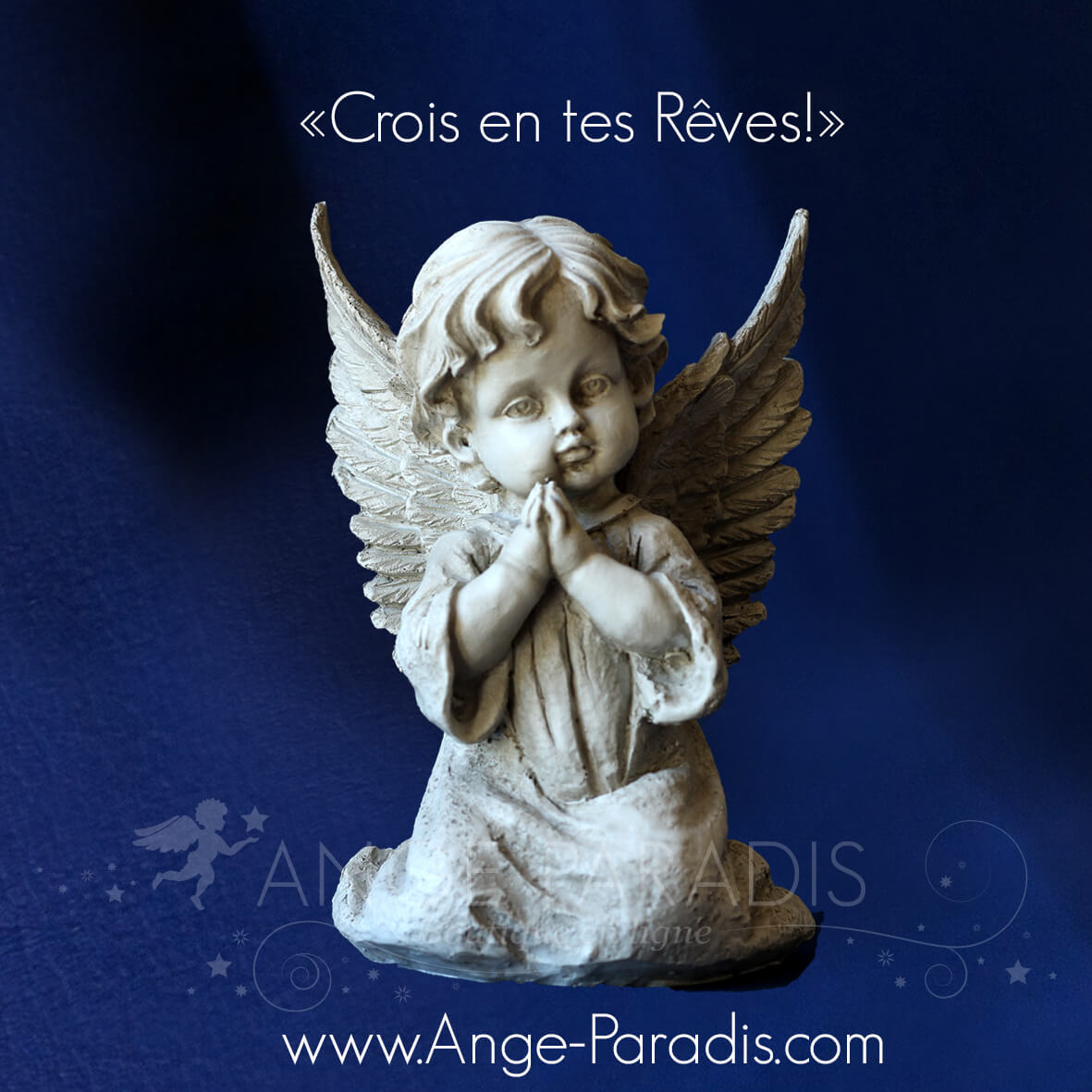 statuette ange type platre